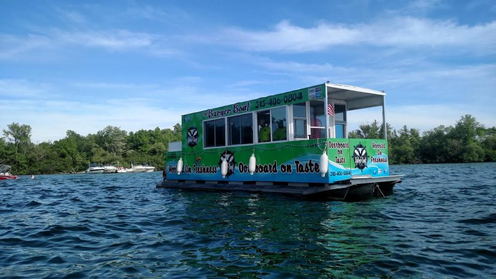 28 Pontoon Burger Boat Restaurant On Water Turnkey