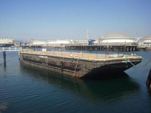 110' Deck Barge with One Raked End For Sale