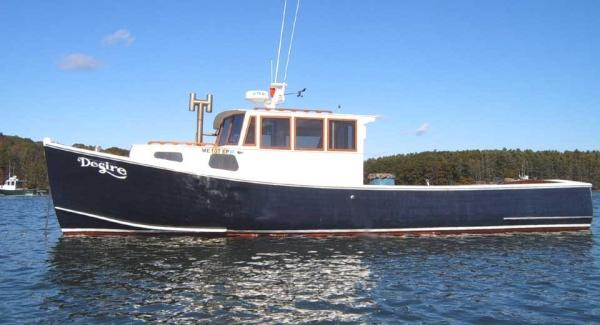 38' Lobster Boat - Custom Built - By Ron Poland Boat Builder