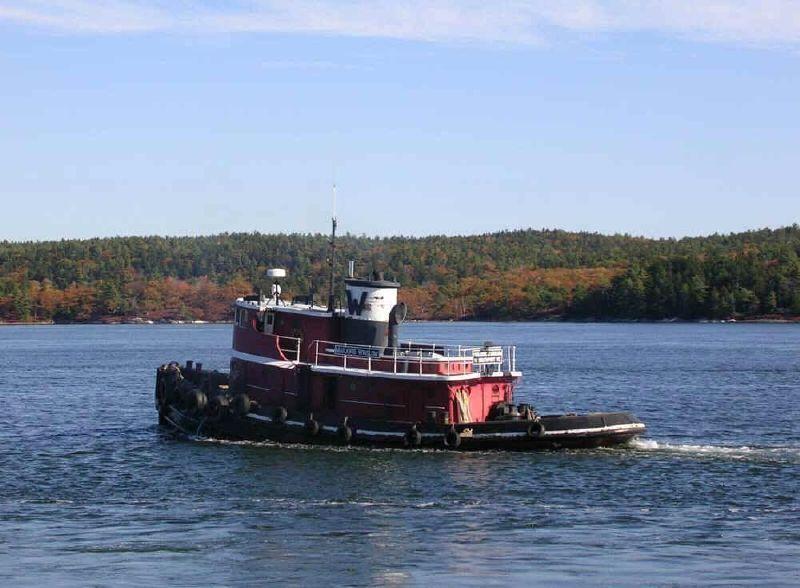80' Model Bow Tug 1750 HP - Harbor Tugboat Tug Boat