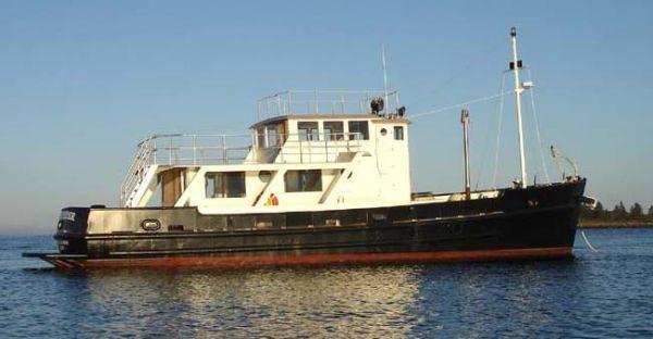 65' Higgins US Army T Boat Cargo, Yacht Conversion
