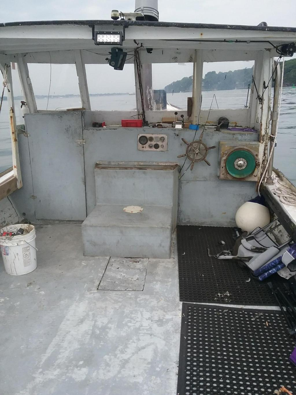 34' William Beal Wood Lobster Boat 1974 - Cat 210 HP For Sale